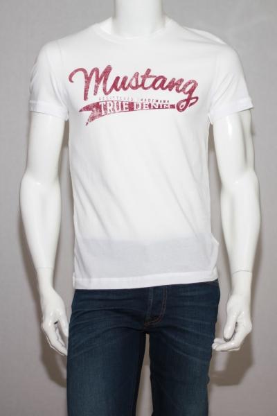 Футболка белая Mustang 1005315-2045