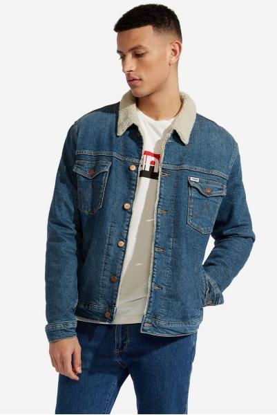 Джинсовая куртка на меху Wrangler W4232125B