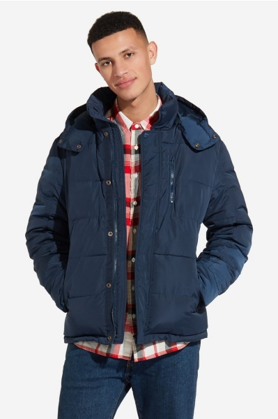 Синяя куртка с капюшоном Wrangler W4727W335