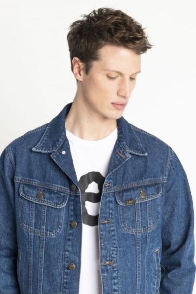 Джинсовая синяя куртка Lee L89ZGAKE