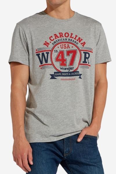 Мужская футболка с принтом Wrangler W7C08FK37