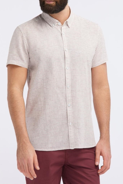 Рубашка из льняной ткани Mustang