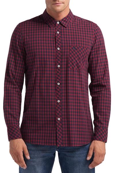 Мужская рубашка в клетку Mustang 1008167-11423