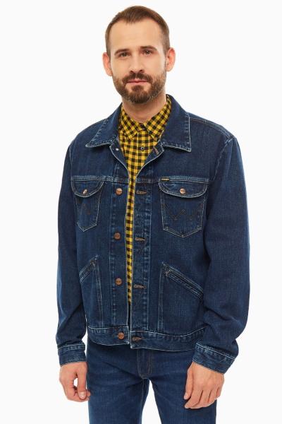 Джинсовая куртка Wrangler синего цвета