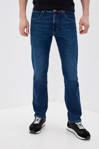 Классические джинсы темно синего цвета Wrangler Arizona W120V7843