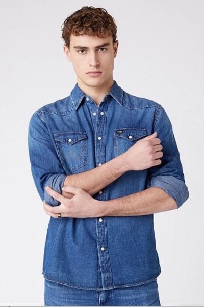 Мужская джинсовая рубашка Wrangler 5MSLW924