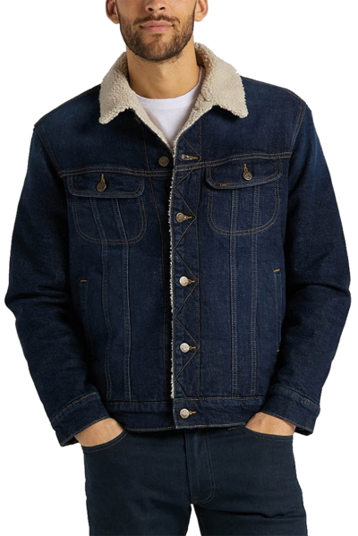 Куртка(Sherpa) джинсовая Lee на меху L87APLMH