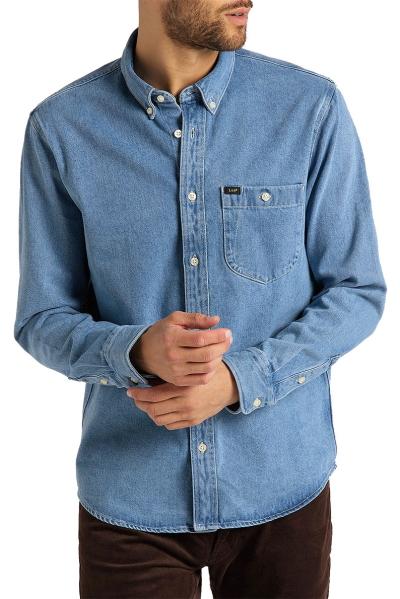Джинсовая рубашка Lee c длинным рукавом