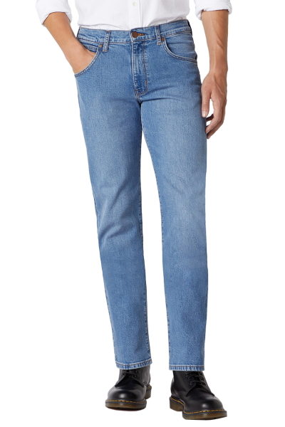 Мужские летние светло синие джинсы Wrangler Arizona W120440D