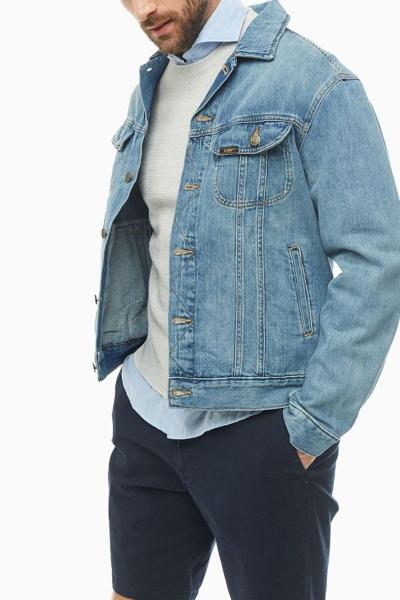 Куртка джинсовая Lee светло синяя L89ZLJXA