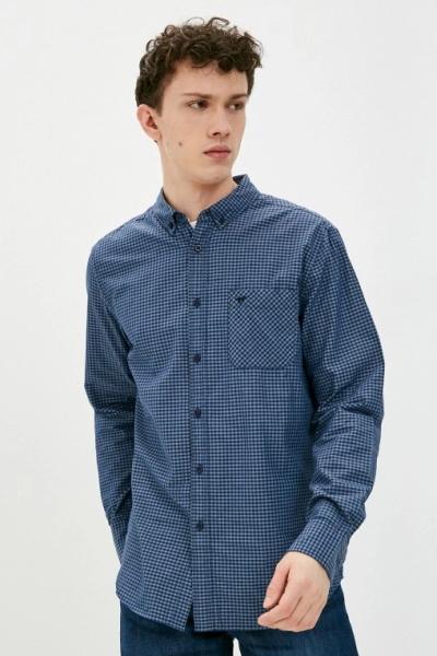 Мужская клетчатая рубашка с длинным рукавом