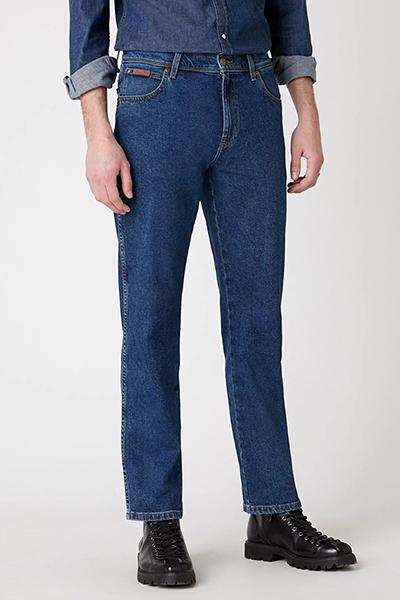 Синие классические джинсы Wrangler Texas W121U5225