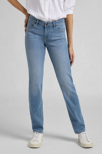 Женские голубые джинсы Lee Marion straight