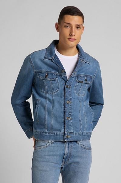 Синяя мужская куртка Lee классического кроя L89ZLJPI
