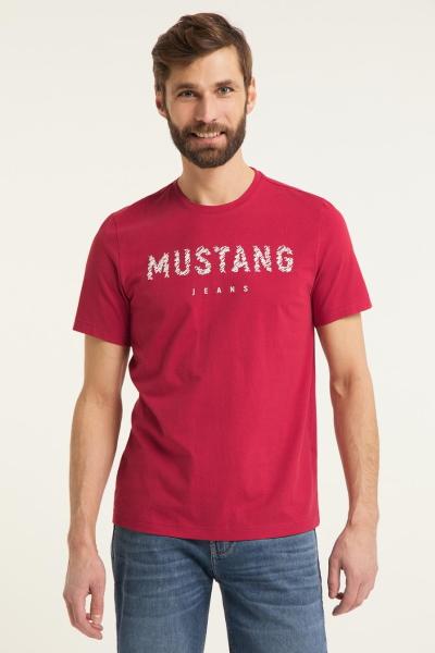 Мужская футболка Mustang красного цвета