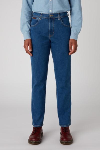 Синие джинсы Wrangler Texas без потертостей